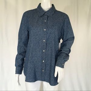 CHAUS WOMAN BLOUSE SIZE M NAVY/BLUE  COLOR